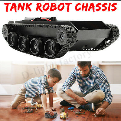3V-7V DIY Light Shock Absorbed Smart Tank Robot Chassis Car Kit For Arduino SCM