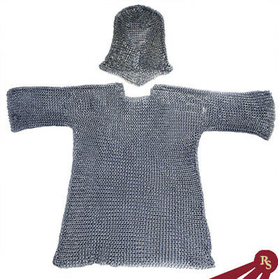 CHAINMAIL ARMOR WITH HOOD - Medieval - CHAIN MAIL COIF