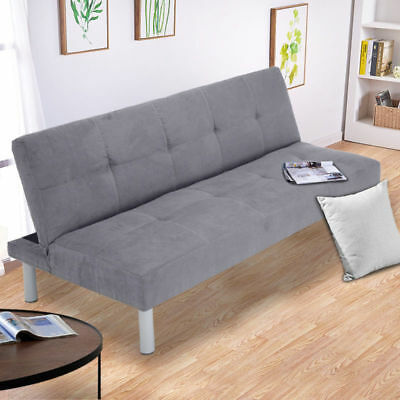 Faux Suede Canterbury Fabric Sofa Bed 3 Seater Click-Clack Sofabed Couch Sleeper