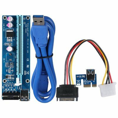 4PIN USB3.0 PCI-E Express 1x To 16x Extender Riser Card Adapter Power Cable 3C