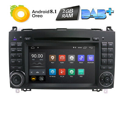 Android 8.1 GPS Mercedes Benz A/B Class Sprinter Viano Vito VW Crafter Autoradio