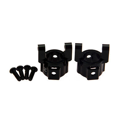 2Pcs Aluminum Alloy Front C-Hub Black For Axial 1:10 SCX10 RC Car Crawler