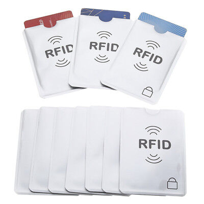 20Pcs Credit Card Passport Cover RFID Protector Shielded Sleeve Card Case 2019