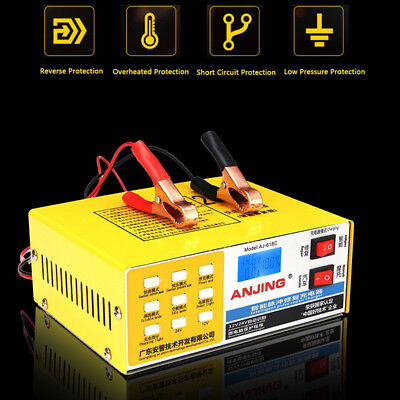 12/24V 200 AH Electric Auto Car Dry Wet Battery Charger Repair Intelligent Pulse