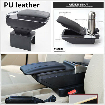 Universal 1X PU Leather Car Central Container Armrest Box Cup Holder Accessories
