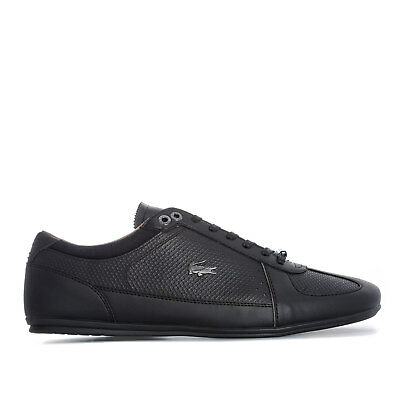 Mens Lacoste Evara 318 Cam Trainers In Black Grey