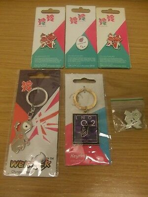 London 2012 Olympics X6 Keyring & Badges: Official Licensed Product: Look !!!