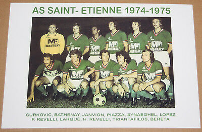 Football Photo Asse St Etienne Curkovic Bathenay Championnat De France 1974-75