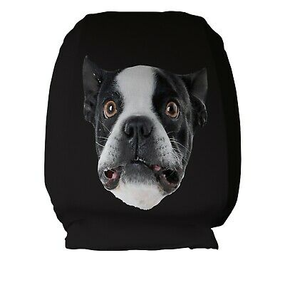 French Bulldog Design Car Seat Head Rest Covers Pack Of Two Accessory Gift