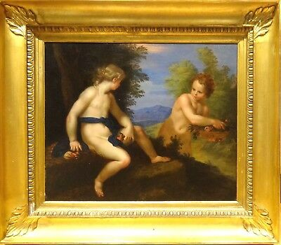 Large 18th Century French Old Master Venus & Cupid Oil painting Francois Boucher