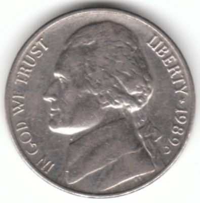 United States 10 Cents Nickel 1989 D Copper-Nickel Coin - Jefferson