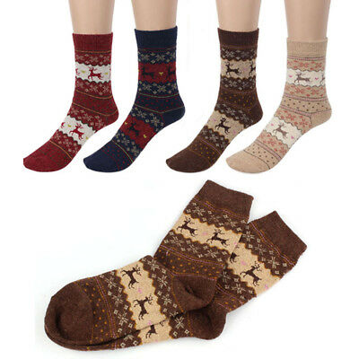 1 Pairs Women Winter Wool Socks Cashmere Thicken Warm Soft Casual Sports Sock