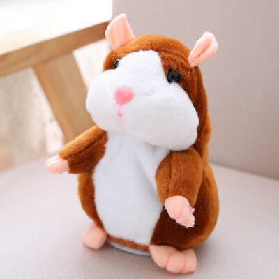 Electric Cute Plush Repeating Talking Hamster Stuffed Animals Toys for Kids UK
