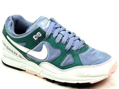 huge selection of dfa0a 77ab1 Unisex Nike Air Span Ii Green Leather Look Sports Running Gym Trainers Size  Uk 6