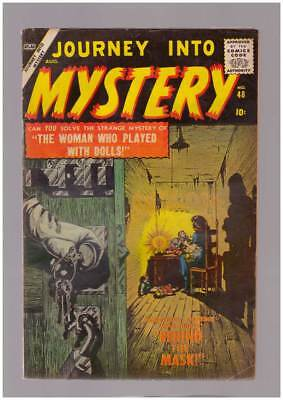 Journey into Mystery # 48  Behind the Mask !  grade 4.5 scarce Atlas book !