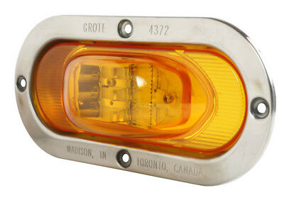 54263 - Stt Lamp Yellow Led Side Turn Lamp W/stainless Stl Flange - (1 Ea)