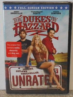 The Dukes of Hazzard (DVD, 2005, Unrated, Full Frame Edition) RARE COMEDY NEW