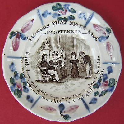 Pearlware Childs Plate Politeness c1840