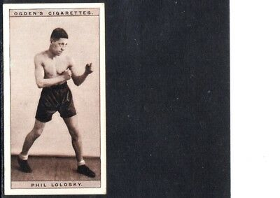 1928 Phil Lolosky Boxing Cigarette Card,  Boxing Great, Ex.-Mint Condition