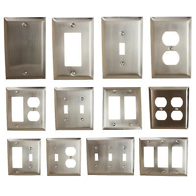 GlideRite Brushed Nickel Light Switch Cover & Duplex Outlet Wall Plates