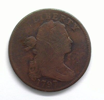 1797 Draped Bust Large Cent  Very Good  Scarce!