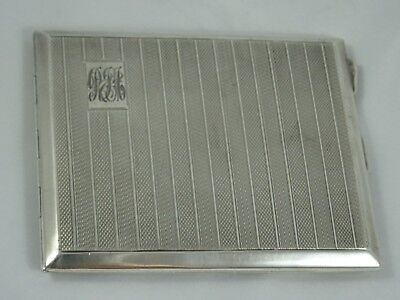 SMART, solid silver CIGARETTE CASE, 1920, 138gm