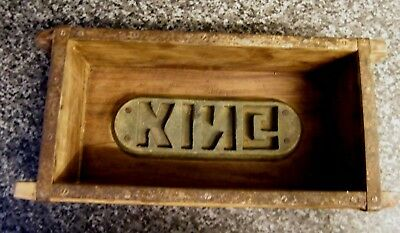 Old Wooden Brick Mould With The Name King When Moulded