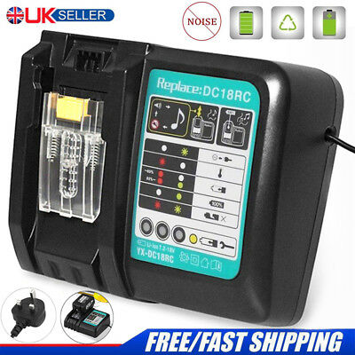 Rapid Battery Charger for Makita BL1815 BL1830 BL1840 BL1850 BL1860 7.2-18V 3A