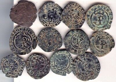 Cincin 19, Nice Lot 12 coins Spain Whites of the Catholics Kings