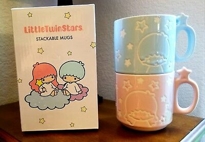 Sanrio Little Twin Stars stackable mugs from Loot Crate brand new in box