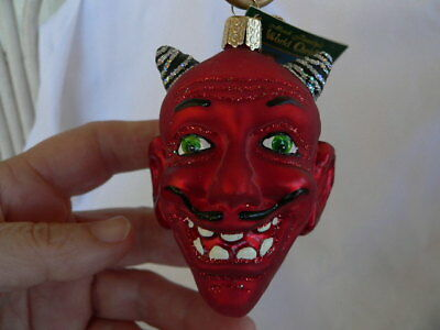 Old World Christmas Red  Devil Head  Ornament NWT'S