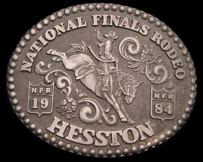 Id10145 Vintage 1984 National Finals Rodeo Hesston ***Nfr*** Buckle