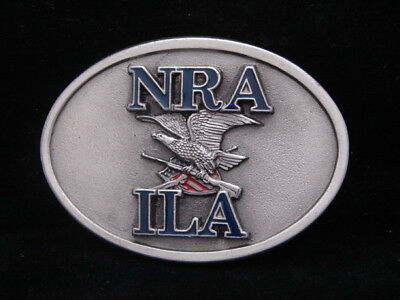 HL21156 AWESOME VINTAGE 1970s ***NRA - ILA*** PEWTER BUCKLE