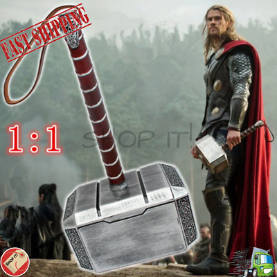 Avengers Thor's Hammer Weapon 1:1 Cosplay Costume Thunder Kids Gift Toy Safety