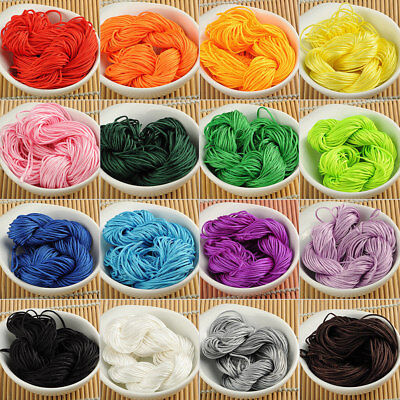Nylon Chinese Knot Cord Thread For Jewelry Bracelet Macrame Braided 1Mm 1.5Mm