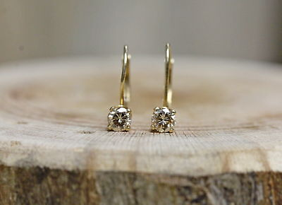 14 Kt Yellow Gold 1/2 CTTW Champagne Diamond Earrings