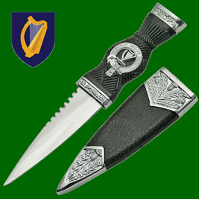 Irish Ireland Celtic Gaelic Clan Erin Dirk Sgian Harp Dubh Knife Dagger Blade IE