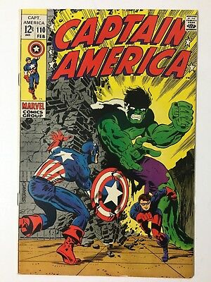 Captain America 110 - First Appearance of Madame Viper Steranko Cover VF/NM