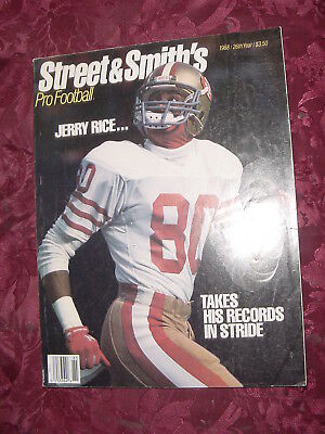 STREET SMITH's NFL Pro Football Official YEARBOOK 1988 Jerry Rice Doug Williams