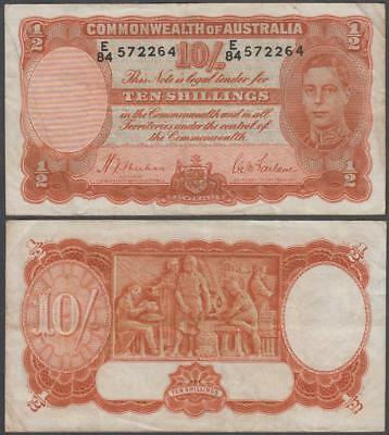 1939 Commonwealth of Australia King George VI 10 Shillings