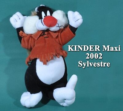 Kinder Maxi Italie 2002, peluche Looney Tunes, Sylvestre trappeur