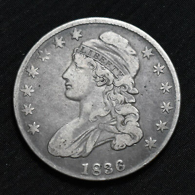 1836 Capped Bust Half Dollar, Very Fine