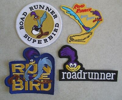 Lot Of 4 Unused Looney Tunes Road Runner Iron On Embroidered Patches