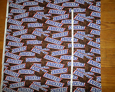 e113f100d7c87 NEW MARS SNICKERS CANDY BAR Cotton Fabric - Large Print - 1 yard