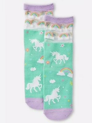 NWT Justice Magical Unicorn Wing Knee High Socks S//M or M//L
