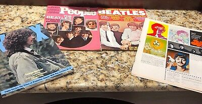 Terrific Beatles Vintage  Lot Of 4 Magazines And Ad For Avedon Posters