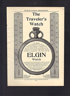1904 Old Magazine Ad Elgin National Watch Co. IL The Traveler's Watch