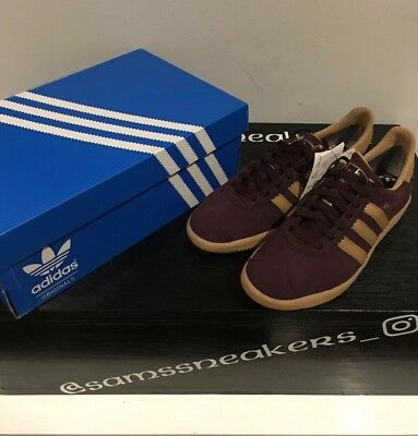watch 5f38d 81165 Brand New Authentic Adidas Originals Stockholm GTX Burgundy Trainers UK Size  6.5