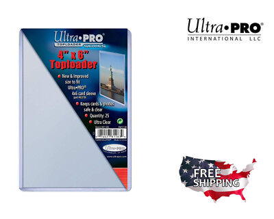 "Ultra Pro 4 X 6 Topload Card Holder Photo Postcard 4""X6"" Toploaders Pack of 25"
