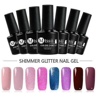 7ml MTSSII Shimmer Glitter UV/LED Gel Nail Polish Soak Off Varnish Manicure New